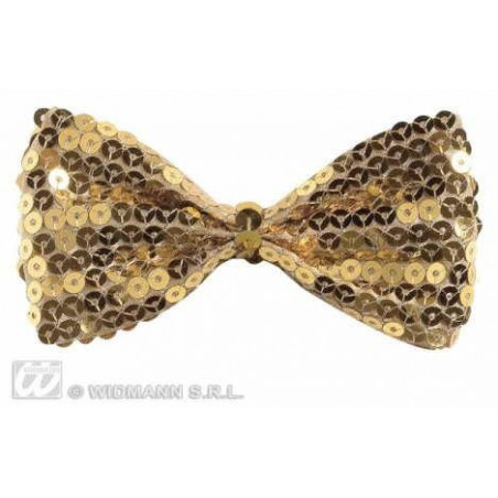 PAPILLON IN PAILLETTES ORO
