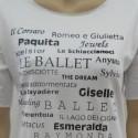 T-SHIRT DANZA BALLETTI Colore Bianco
