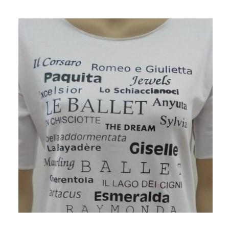 T-SHIRT DANZA - Balletti - Colore Bianco