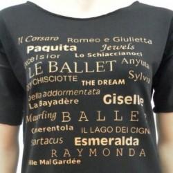 T-SHIRT DANZA - Balletti - Colore Nero