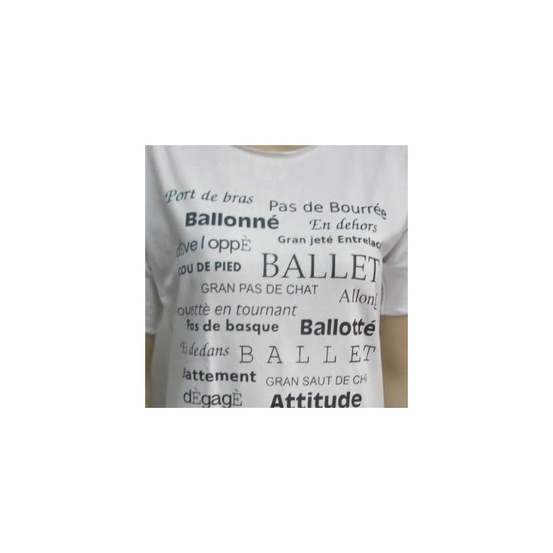 T-SHIRT DANZA - Passi Danza - Colore Bianco