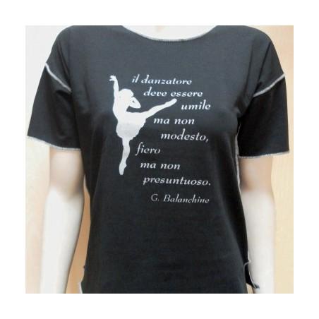 T-SHIRT DANZA - Balanchine - Colore Nero