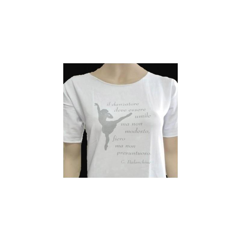 T-SHIRT DANZA - Balanchine - Colore Bianco