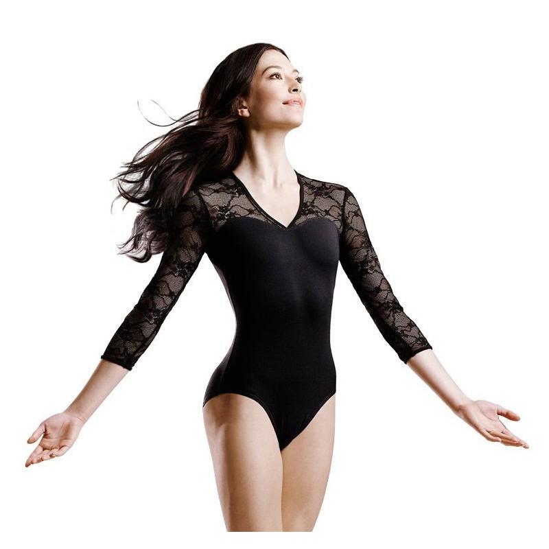 Body Danza Bloch in Pizzo Manica Lunga Modello Kate